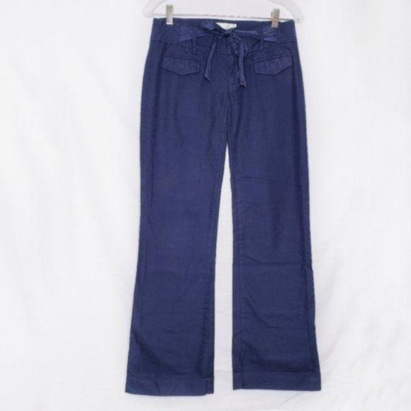 Anthropologie Elevenses Blue Wide Leg Trousers 2